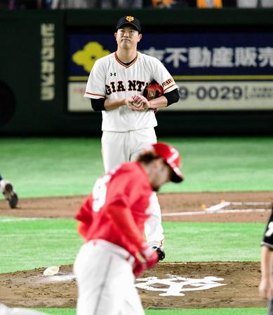 巨人・内海、3回6失点KO 広島に4...