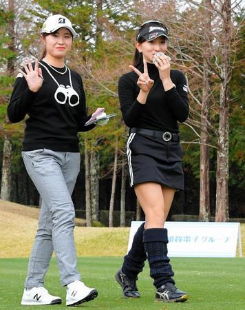 モデル級長身ゴルファー、脇元華が新人戦で2位